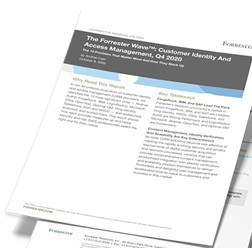 Forrester Wave™: Customer Identity And Access Management, Q4 2020